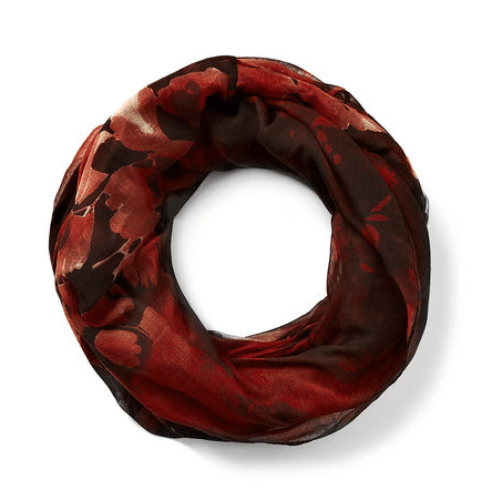 Floral Leaf Loop Scarf from Cleo