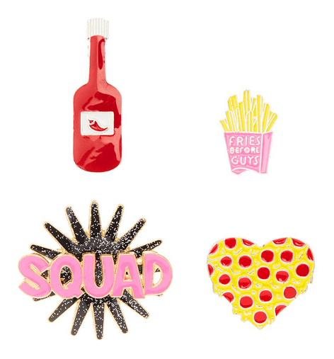 claires food pins