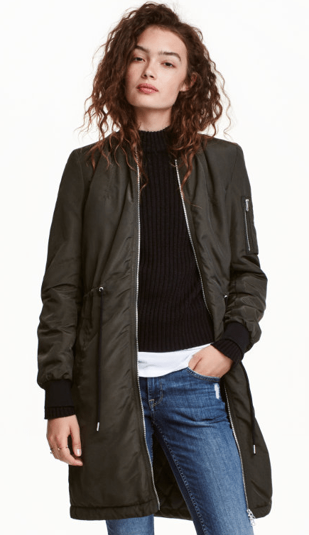 long bomber jacket from H&M